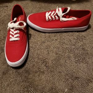 American Eagle  red Keds style shoes